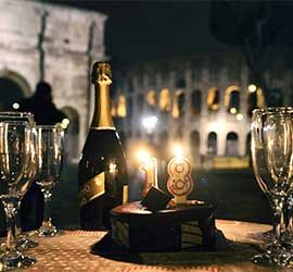 Birthday limousine in Rome