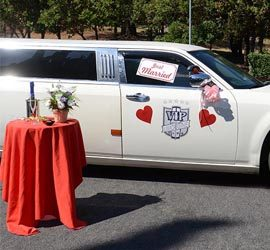 Rome wedding Limousine